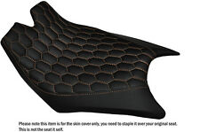HEX CREAM STITCHING CUSTOM FITS KTM RC8  FRONT RIDER REAL LEATHER SEAT COVER