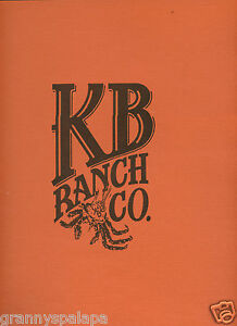 "Older Restaurant Menu - KB Ranch Co - 12"" x 9 1/2"" -"