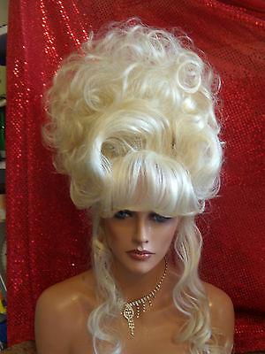 HALLOWEEN SPECIAL VEGAS GIRL WIGS PICK A COLOR RINGLETTE CURLS GIBSON SUPER BIG