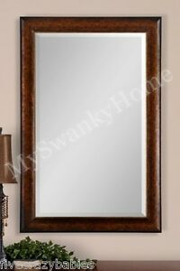 Extra Large 58 Quot Rustic Bronze Wall Mirror Oversize Mantle