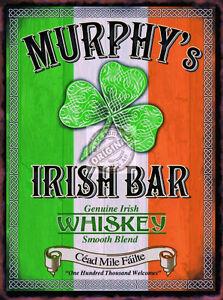 MURPHY-039-S-IRISH-BAR-VINTAGE-STYLE-WHISKEY-ADVERT-PUB-POOL-CAVE-METAL-WALL-SIGN