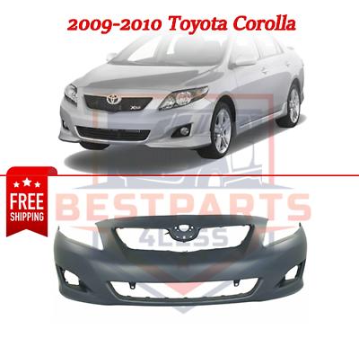 Bumper Cover For 2009-2010 Toyota Corolla Japan Built Front Plastic Primed