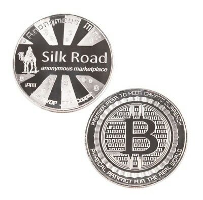 Silk Road SilkRoad Bitcoin Anonymous Marketplace Silver plated Coin