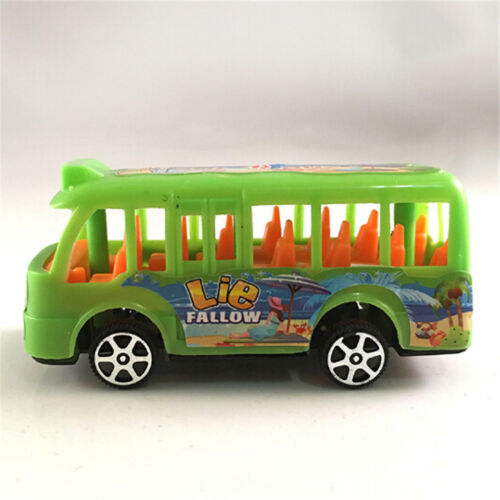 Plastic School Bus Kids Toys American Student Pull Back Kids Gifts JH