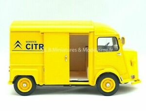 CITROEN-HY-1962-1-24-Scale-Diecast-Model-Toy-Car-Miniature-Yellow