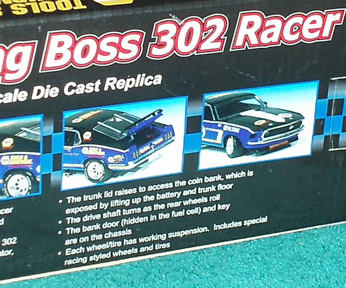 CROWN PREMIUMS 1969 FORD MUSTANG BOSS 302 RACER RACER RACER 1 24 NAPA TOOLS 9633c9