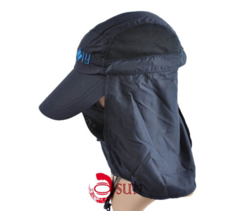 Unisex Women Men Sun Protection Camping Quick Dry Cap Fishing Hat With Fly Net