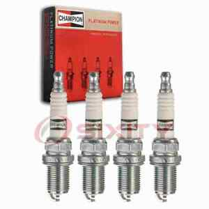 4 pc Champion Platinum Spark Plugs for 1994-1996 Mercedes-Benz C220 2.2L L4 yh