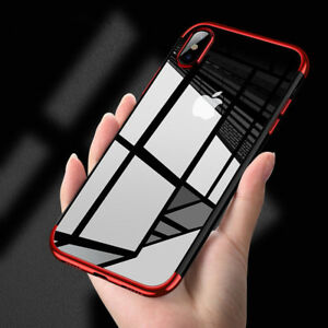 newest be5ee 7cc7e For Apple iPhone X Case Slim Clear TPU Soft Bumper Shockproof Thin ...