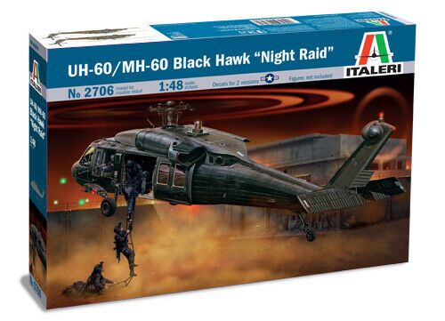 UH-60//MH-60 Black Hawk Night Raid Elicottero Helicopter 1:48 Plastic Model Kit