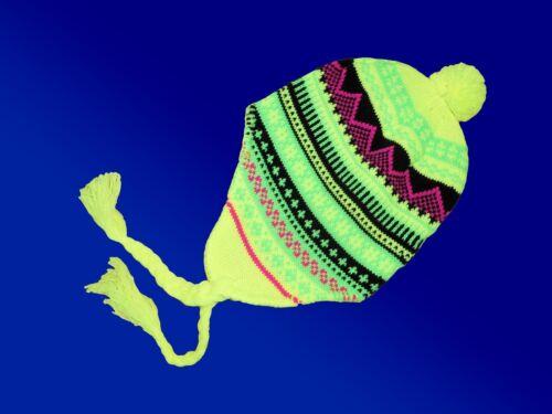Coloré Femmes Fille Hiver Casquette Bonnet M Zopfband norvégiens type couleur au choix