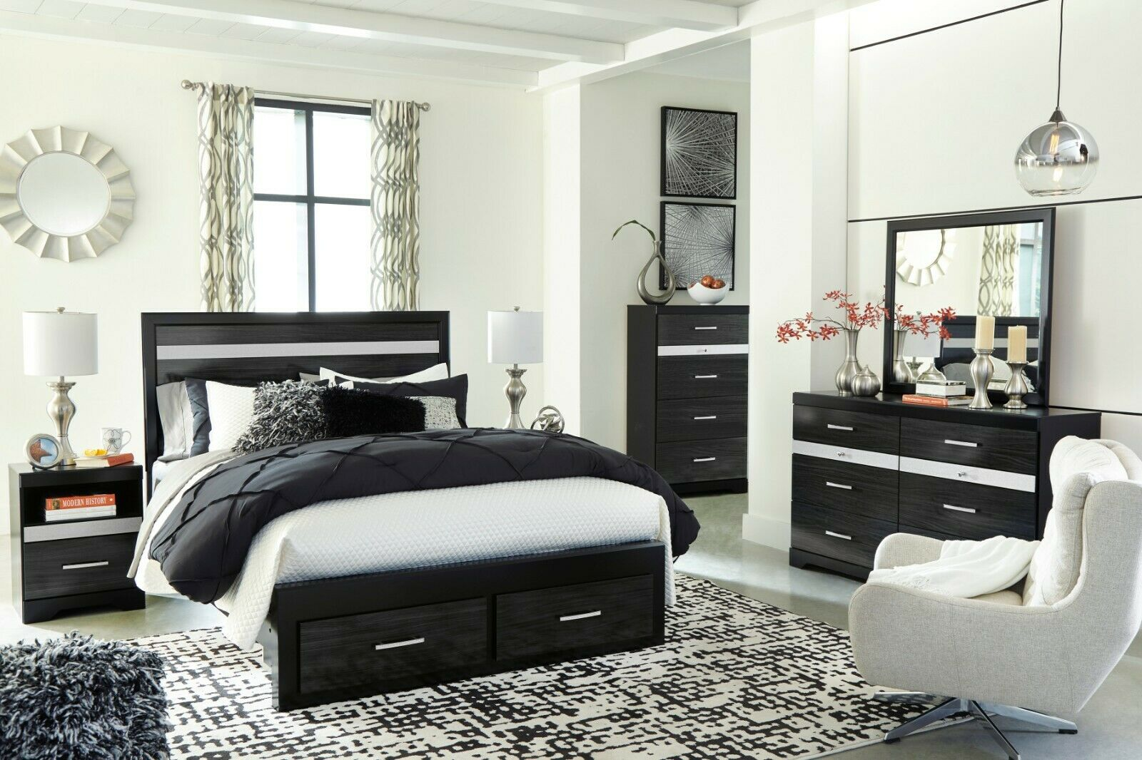 Ashley Furniture Starberry Queen Panel Storage 7 Piece Bedroom Set