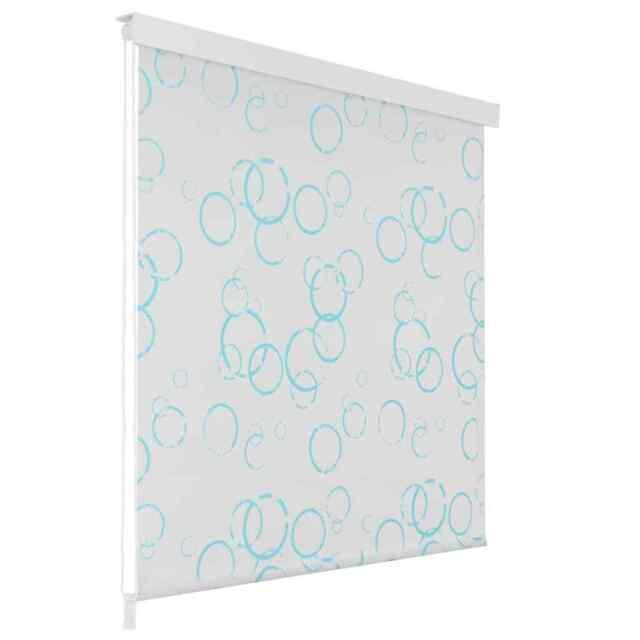 VidaXL Shower Curtain Roller Blind 100x240cm Bubble Bathroom Divider