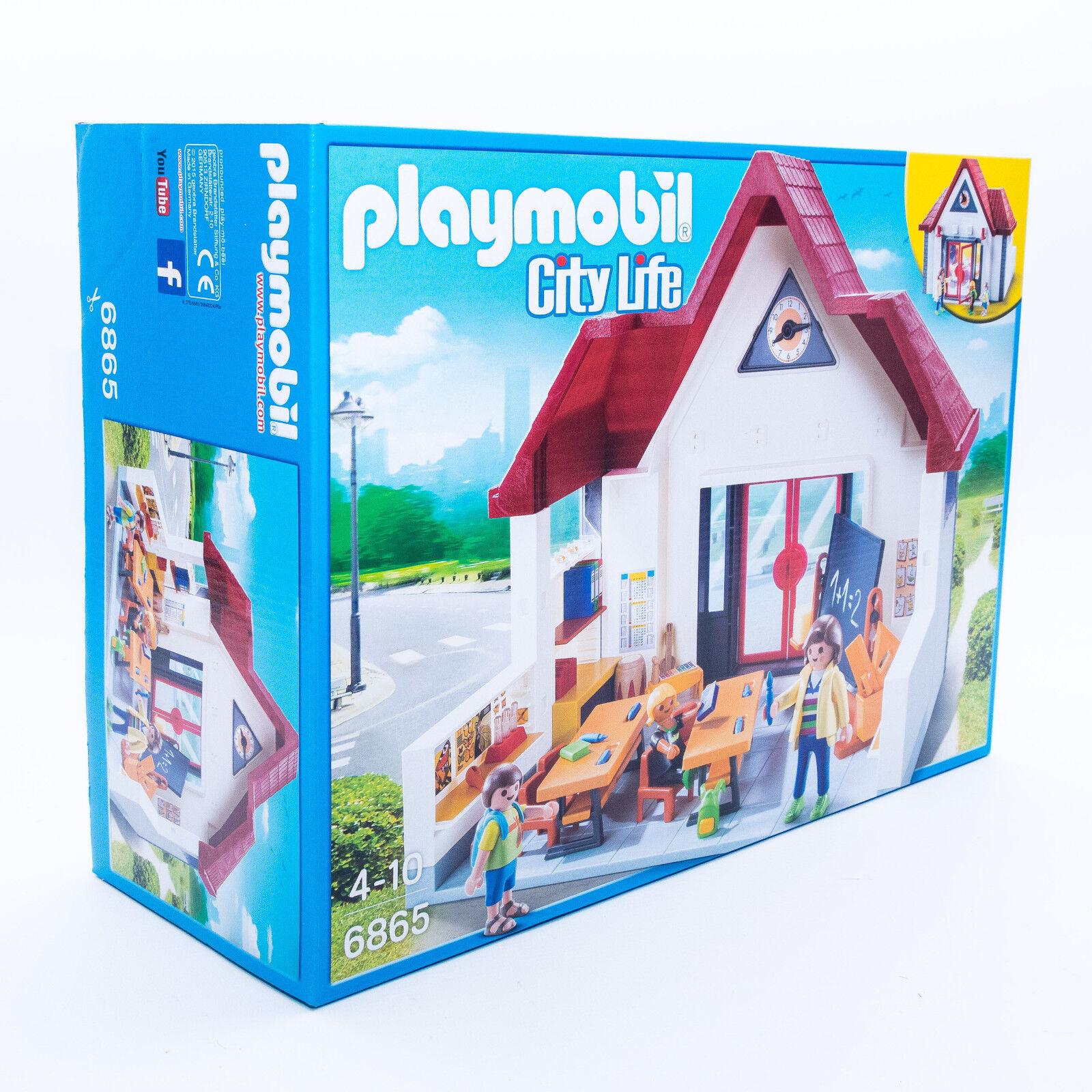 Playmobil 6865 Schulhaus Schulhaus Schulhaus Schule Grundschule Schulstart mit Figuren Verpackung aef771