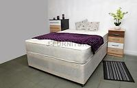 5ft King Size Divan Bed With Real Orthopaedic Mattress Brand From Factory
