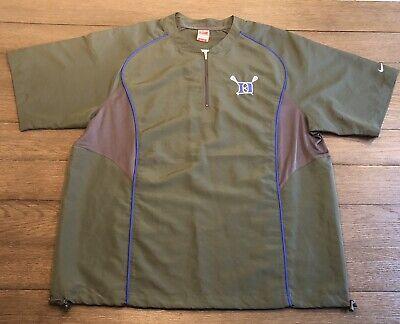 Intellective Nike Mens Size Xl Dri-fit Duke Lacrosse Gray Blue 1/4 Zip Pullover Windbreaker Men's Clothing Activewear