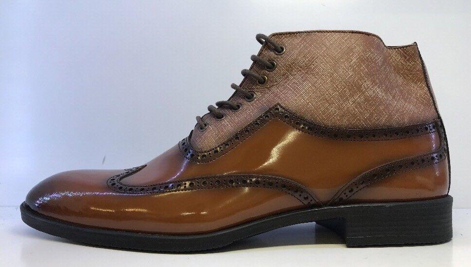 Borelli Men's Dark Tan Pointed Derby Derby Pointed Schuhes Uk 9 cba311