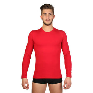 DATCH-TEE-SHIRT-I7U2030-3M9-MANCHES-LONGUES-ROUGE-HOMME
