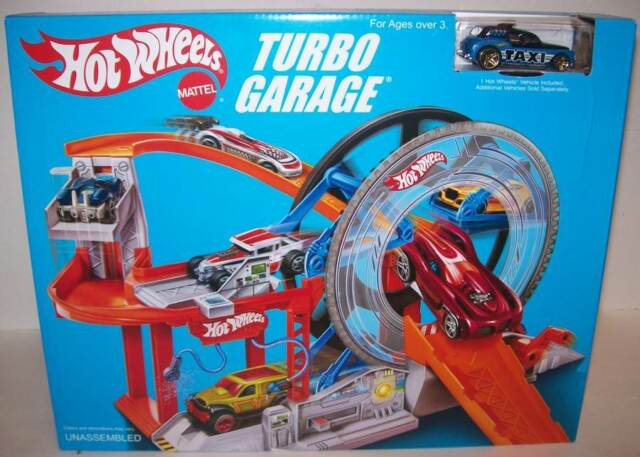 Hot Weels Garage : Hot wheels turbo action packed garage playset includes one car