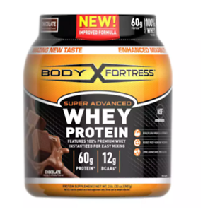 Body Fortress Super Advanced Whey Protein Powder,Meal Replacement,Chocolate 2LBS