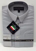 Boys Long Sleeve Shirt Silver Convertible Cuffs Daniel Ellissa Sizes 4 - 12