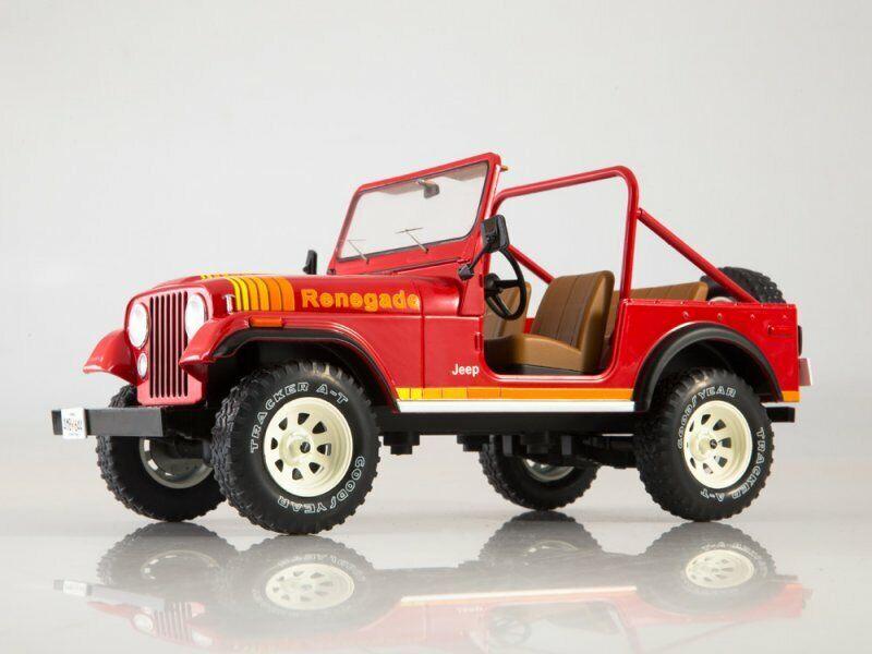 Jeep CJ-7 1981 rot A-Team Animal Preserve Modellauto 1:18 Greenlight Collectible