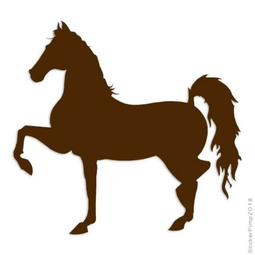 Size #898 Horse Trotting Decal Sticker Choose Color