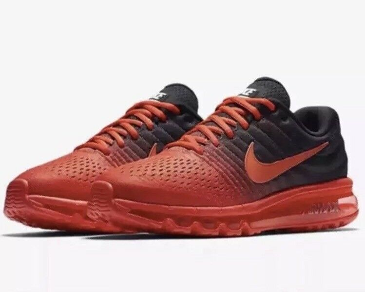 Nike Air Max 2017 Men's Black Red Crimson Running Training shoes 849559 600