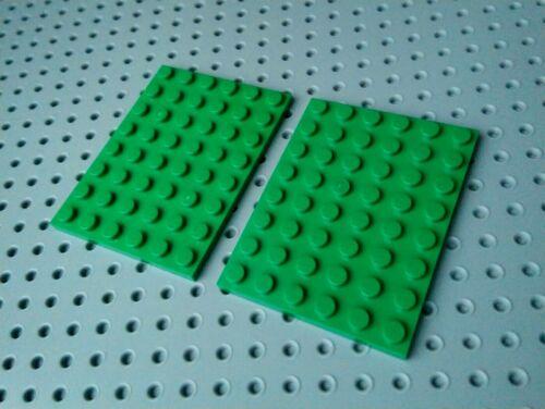 3036 Lego Plate 6x8 Green x2