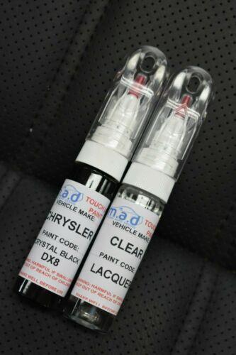 Chrysler Noir Cristal DX8 Peinture Stylo Retouche Réparation Éraflure Puce