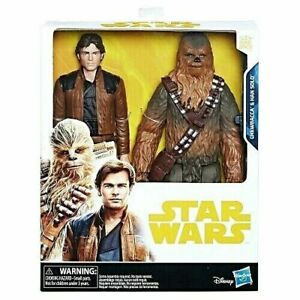 Disney-Star-Wars-Han-Solo-Hero-Series-2-Pack-Han-Solo-amp-Chewbacca-10-034-Tall