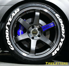 TIRE LETTERS - 1 inch  TALL - LOW PROFILE - goodyear  - SWOOSH DESIGN - SALE!