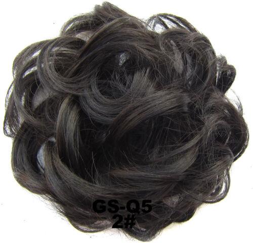Women Girls Fashion Bun Wig Ring Scrunchy Hair Band Use Easil For Hairstyle DIY