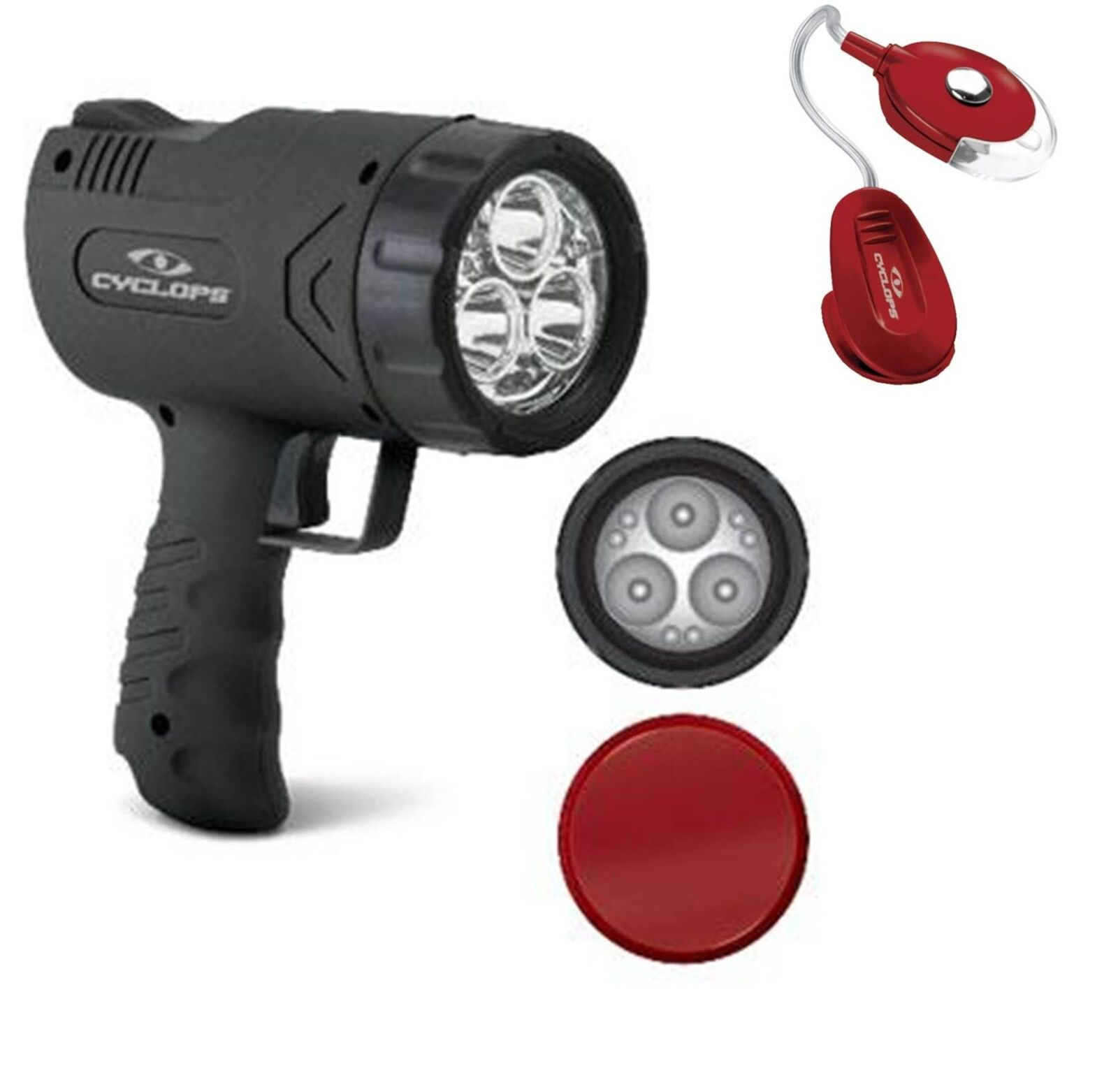 Hunting Spotlight Rechargeable 1100 Lumen Handheld Cyclops Bonus Clip Light