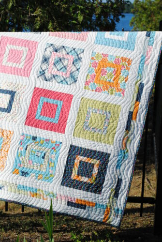 baby or lap QUILT PATTERN Layer Cake or Fat Quarters Sweet Jane/'s Lovie