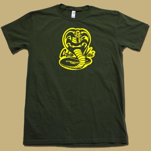 """COBRA KAI"" 80's Karate Kid RETRO T-Shirt Super-Soft Cotton Graphic Movie Tee!"