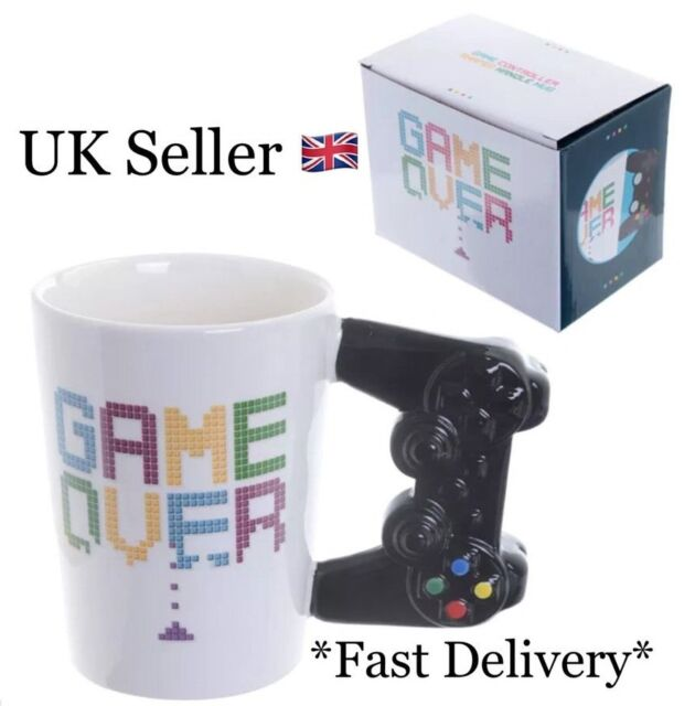 Game Over Mug Ceramic Video Game Controller Tea & Coffee Cup Gamer Gift Puckator