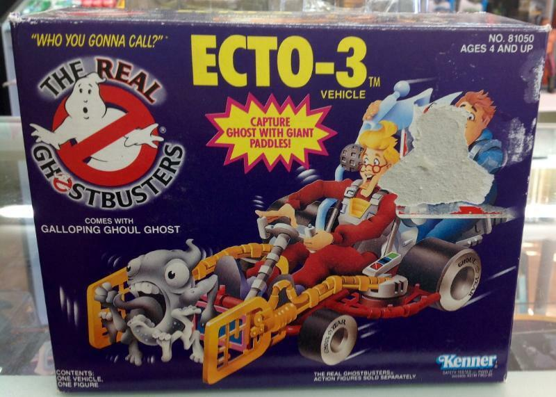 Ecto-3 fahrzeug the real ghostbusters kenner viel 1984 misb