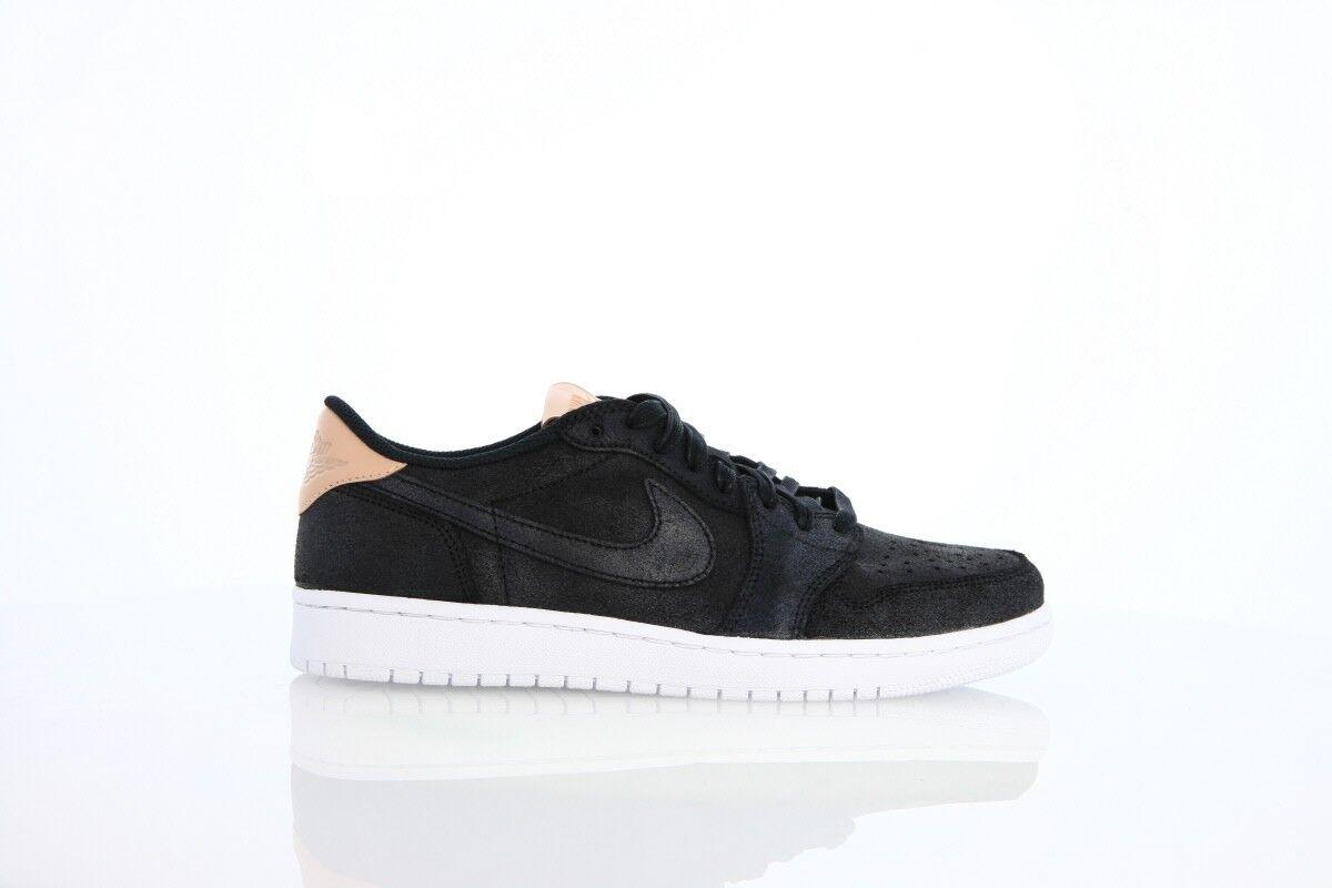 Nike Air Jordan Retro 1 Low OG PREM Men Black Vachetta Tan 905136-010 Men PREM Sz 8-10 5a2c25