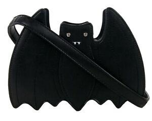 GOTHIC-BAT-BLACK-SHOULDER-HANDBAG-Pagan-Alternative-GOTHX-Vegan-Leather-PU-Bag