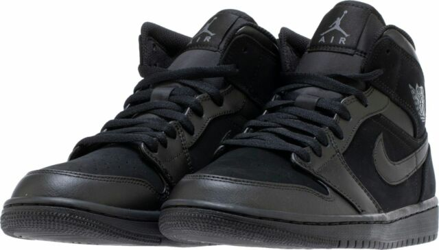 1 Shoes Gray 554724 050 Nike Air Men's Jordan New Dark Mid Basketball Black kPTOuXZi