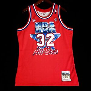 sneakers for cheap 78bbf 29466 Details about 100% Authentic Magic Johnson Mitchell Ness 1991 91 All Star  Jersey Size 44 L