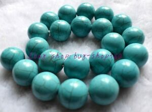 Natural 8mm Blue Turkey Turquoise Gemstone Round Loose Beads 15/'/'