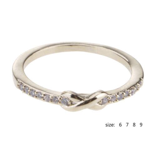 1 Best Figure 8 Croix zircon or Doigt Anneau Métal Bague de Mariage Fashion Jewelry