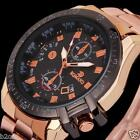 Men's Luxury Dial Gold Stainless Steel Date Quartz Sport Wrist Watch Analog Lot