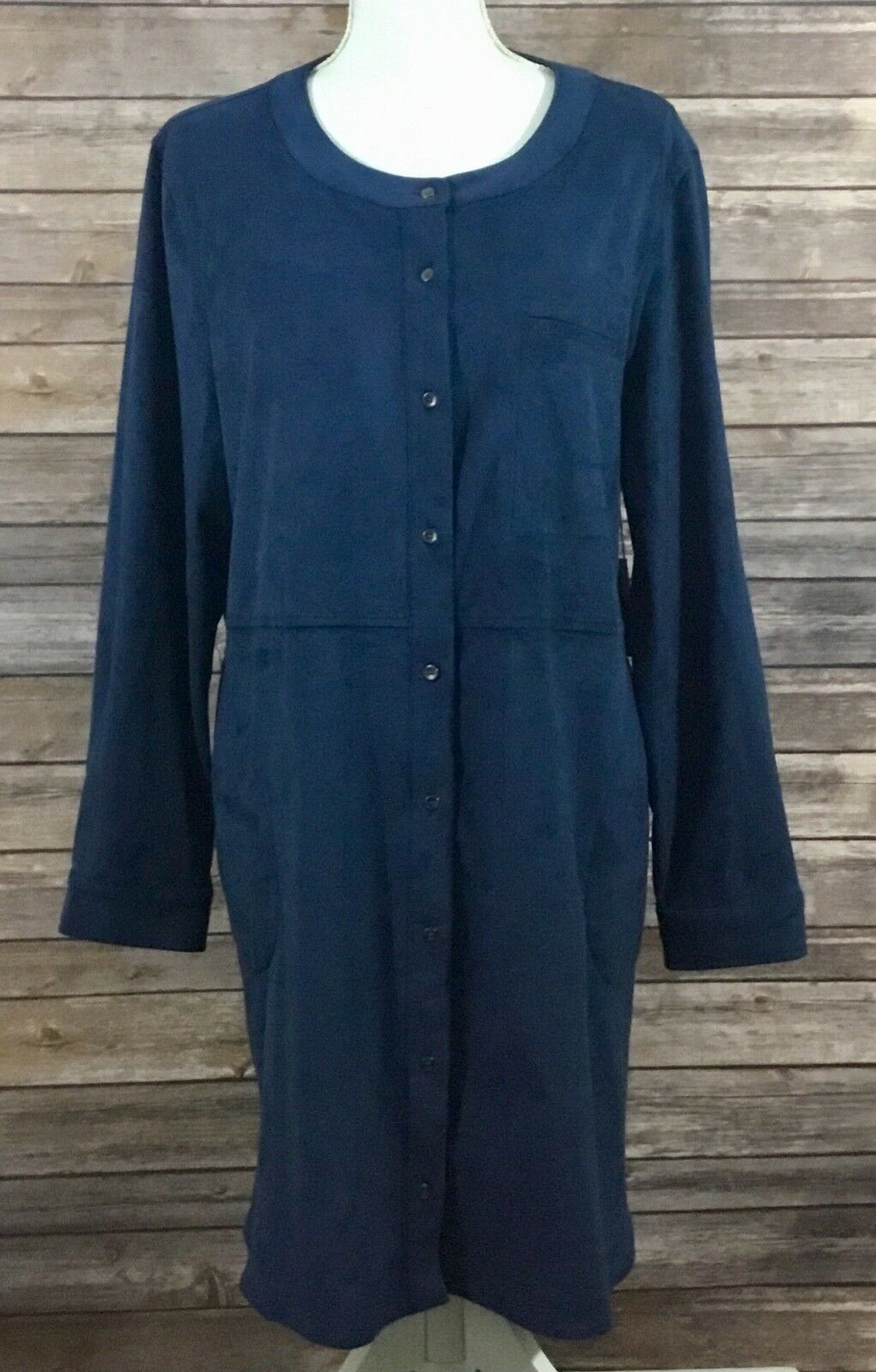 Two by Vince Camuto NWT damen Button Down Soft Tunic Top XL Blau Stretch 240