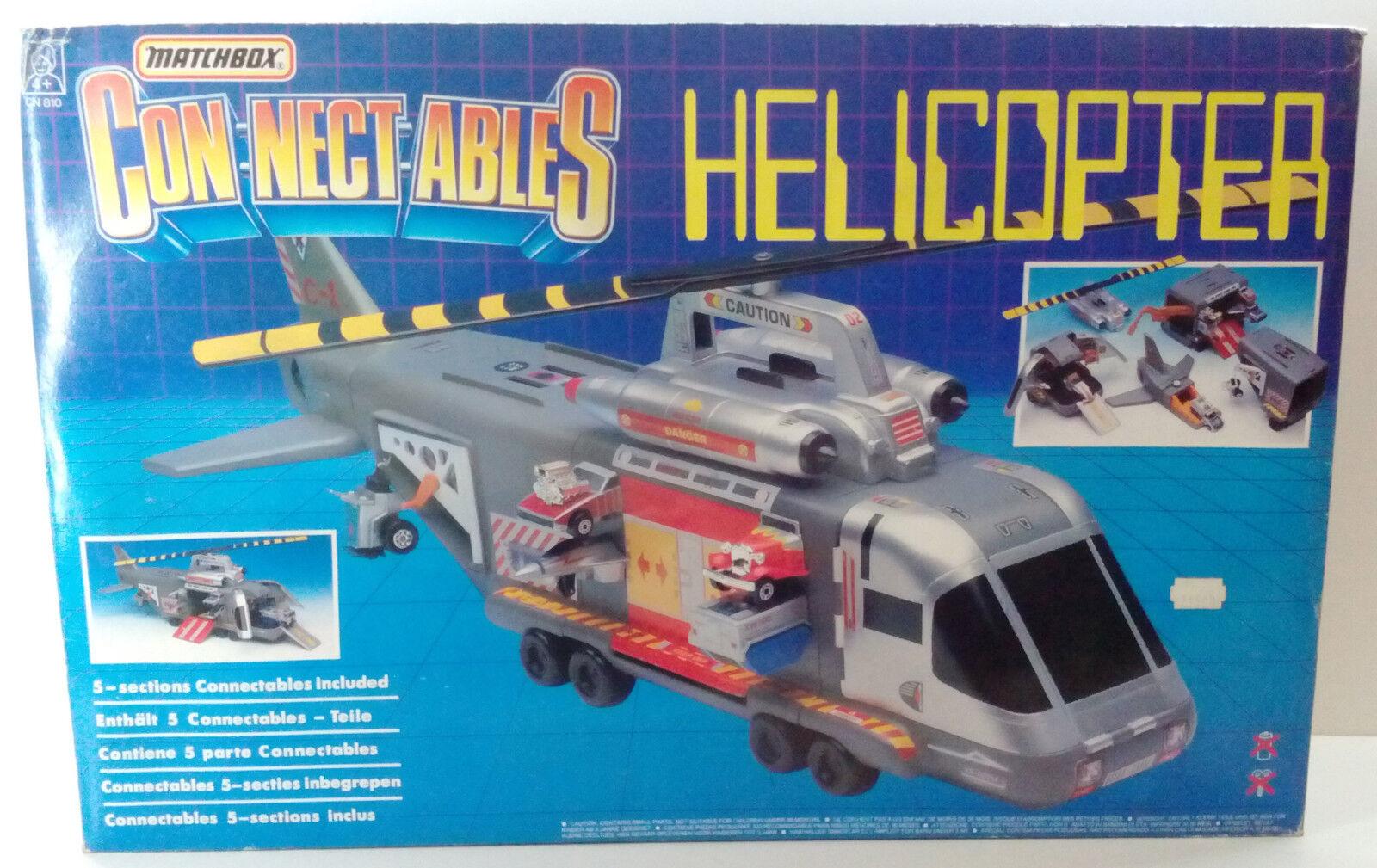 Vintage Matchbox 1990 connectables Hélicoptère CN810 neuf non utilisé