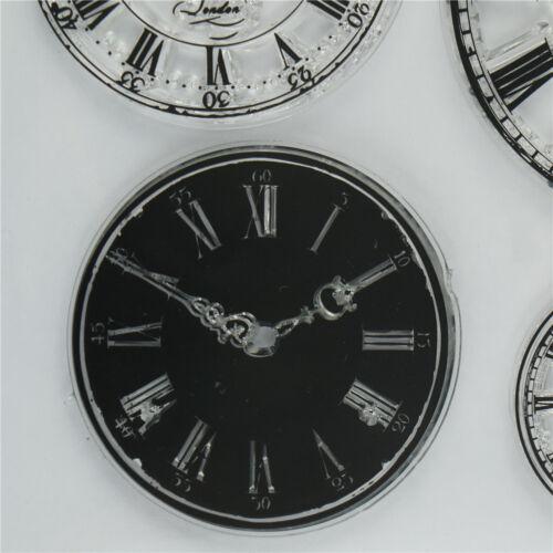 Relojería de silicona transparente claro sello de goma se aferran diario Decoración dsu