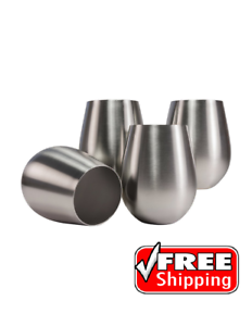 Stainless-Steel-Stemless-Wine-Glasses-Set-of-4-18-Oz-kitchen-party-supply