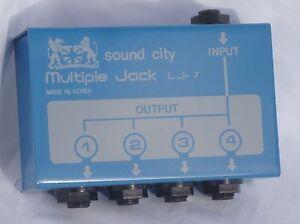 Ancien Et Rare Sound City Lj-7, Plusieurs Jack Box-afficher Le Titre D'origine
